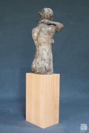 Buste femme Plâtre et bois